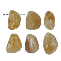 Tumbled Stone Citrine (treated) drilled