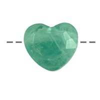 Heart Fluorite facetted drilled, 2,5cm