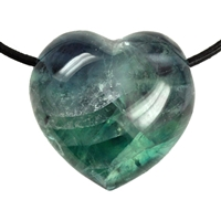Heart Fluorite A drilled, 4,5cm