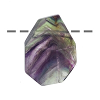 Freeform Fluorite faceted drilled, appr. 3,0 - 4,0cm