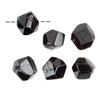 Freeform Garnet faceted drilled, 2,0 - 2,5cm