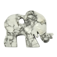 Elephant Magnesite drilled, appr. 4,5cm
