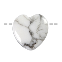 Heart Magnesite drilled, 15mm