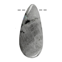 Cabochon Drop, Labradorite B, drilled, appr. 5,0 - 7,5cm