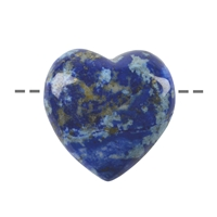 Heart Lapis A drilled, 3,5cm