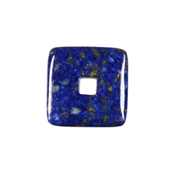 Donut square Lapis Lazuli, 30mm