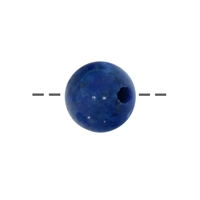 Bead Lapis A drilled, 12mm