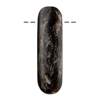 Cabochon Oval long, Muscovite Mica (stab.) drilled, 6,0cm
