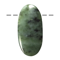 Cabochon Oval Nephrite (Indonesia) drilled, appr. 5cm