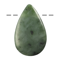 Cabochon Drop Nephrite (Indonesia) drilled, appr. 5,5cm