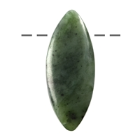 Cabochon Navette Nephrite (Indonesia) drilled, appr. 5cm