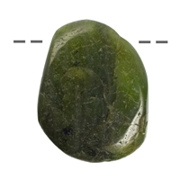 Tumbled Stone Peridote drilled, appr. 4 - 5cm (XL)