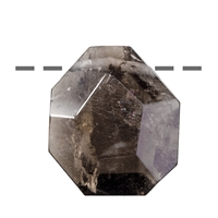 Freeform Smoky Quartz faceted drilled, 3,0 - 4,0cm