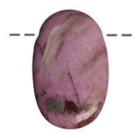 Lense Stone Rhodonite drilled