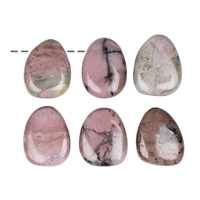 Tumbled Stone Rhodonite drilled
