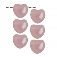 Heart Rose Quartz, 2,5cm (6 pc/VE)