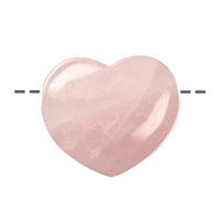 Heart Rose Quartz drilled, 3,5cm