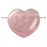Heart Rose Quartz drilled, 4,5cm
