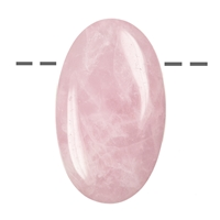 Lense Stone Rose Quartz drilled