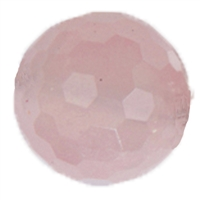 Bead Rose Quartz faceted drilled, 20mm