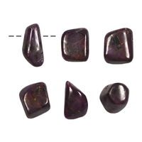Tumbled Stone Ruby drilled