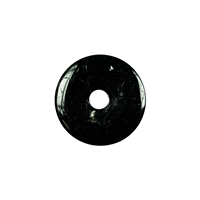 Donut Tourmaline black (stab.), 30mm