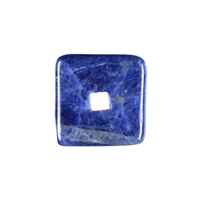 Donut square Sodalite, 30mm