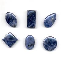 Cabochon Set Sodalite drilled (6 pc/VE)