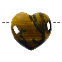 Heart Tiger's Eye/Falcon's Eye drilled, 4,5cm