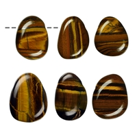 Tumbled Stone Tiger's Eye drilled