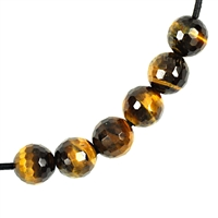 Bead Tiger's Eye faceted drilled, 12mm