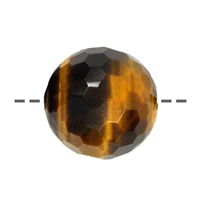 Bead Tiger's Eye faceted drilled, 20mm