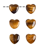Heart Tiger's Eye drilled, 15mm