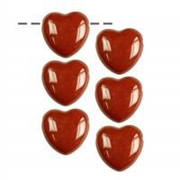 Heart Jasper (red) drilled, 2,5cm (6 pc/VE)