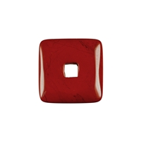 Donut square Jasper (red), 30mm