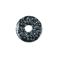 Donut Obsidian (Snowflake), 30mm