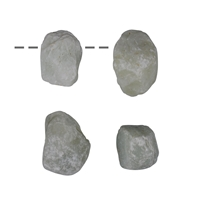 Rough Stone Serpentine drilled, appr. 2,5cm (4 pc/VE)