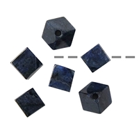 Cube Dumortierite A diagonal drilled, 12mm