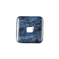 Donut square Dumortierite, 30mm