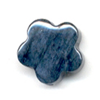 Flower Dumortierite drilled, 15mm