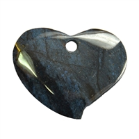 Swing Heart Dumortierite frontdrilled, 6,5cm