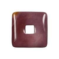 Donut square Mookaite, 40mm