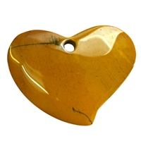 Swing Heart Mookaite frontdrilled, 6,5cm