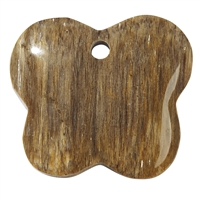 Butterfly petrified Wood frontdrilled, 6,0cm