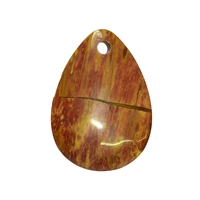 Drop petrified Wood frontdrilled, 7,0cm