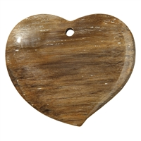 Swing Heart Petrified Wood frontdrilled, 6,5cm
