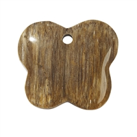 Butterfly petrified Wood frontdrilled, 4,2cm