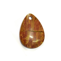 Drop petrified Wood frontdrilled, 5,0cm