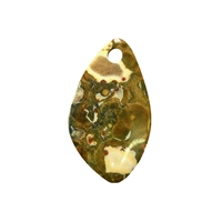 Swing Leaf Rhyolite (Rainforest) frontdrilled, 5cm