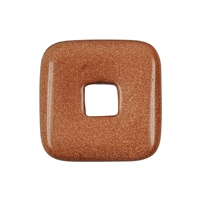 Donut Square Goldstone brown (synth.), 40mm